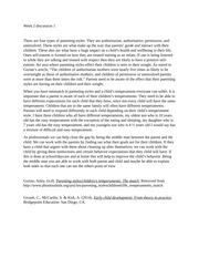 Preschool observation essay