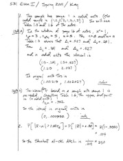 Stat 531 Exam 1 2001 Solutions