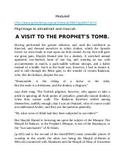 A Visit to the Prophet's Tomb.docx