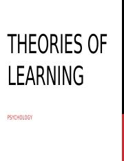 memory, attention, theories of learning