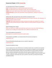 Chapter 2 Economics Answer Key Reading Guide - Economic