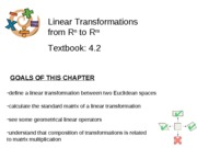 Section 4.2 - Linear Transformations Rn to Rm