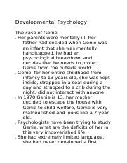 Developmental Psych