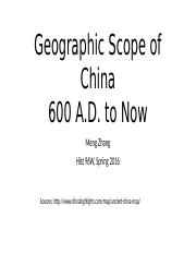 Geographic Scope of China
