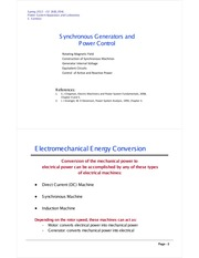 Module 3 - Synchronous Generators and Power Control