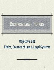 01.01-C1 Ethics, Sources of Law & Legal Systems(3) (8)