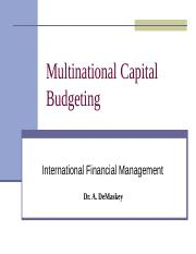 Multinational Capital Budgeting.st.ppt