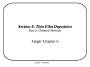 Section 5 - Thin Film Deposition - part2