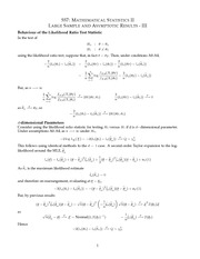 MATH 557 Asymptotic Results III Notes