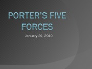 Week 2 Slides-Porter's Five Forces
