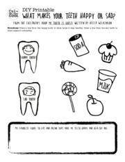 DIY-Printable-What-Makes-Your-Teeth-Happy-or-Sad-Teeth-from-The-Childrens-Book-My-Tooth-is-Loose-by-
