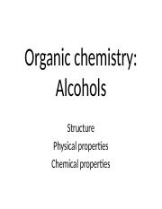 Lecture 6 alcohols.ppt