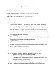 persuasive speech great barrier reef persuasive speech outline 3 pages informative speech how to overcome insomnia 1