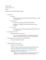 Supreme Court Case Paper Outline