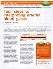 Foru steps to interpreting arterial blood gases
