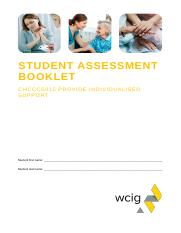 CHCCCS015 Student Assessment Booklet.docx