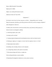Accounting Information System_Assignment(2)_250501_Akhila Viswanadhan.docx