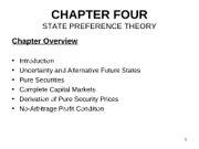 Chapter 4  2011 State Preference Theory