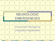 NEUROLOGIC EMERGENCIES