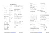 Math 2B  Algebra formulas reduced