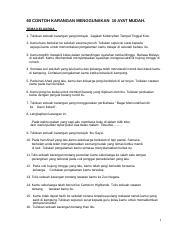 Latihan Membina Ayat Berdasarkan Rangkai Kata Yang Diberi Docx Arahan Membina Dan Menulis Ayat Yang Gramatis Berdasarkan Gambar 1 Datuk Pulang Nenek Course Hero