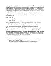 Formulation of the LP problem Professor question