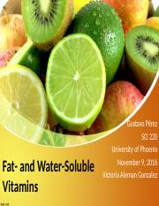 fat and water- soluble vitamins essay Must be original work part 1 - fat- and water-soluble vitamins presentation research the functions importance and role of fat- and water-soluble vitamins.
