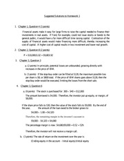 Suggested Solutions to Homework 1