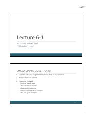 Lecture 6-1