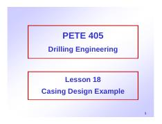 18. Casing Design Example