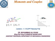 Moments and Couples (Lectures 1-10)