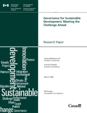 Governance for Sustainable