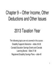 Chapter 09 - PowerPoint - Other Income, Deductions, and   Issues - 2013