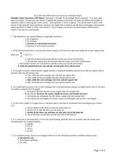 381 Final Fall 2009 Answers