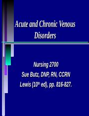 N2700 17 Acute and Chronic Venous Disorders