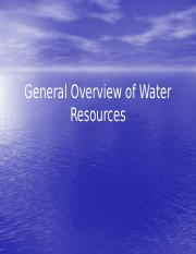General Overview of water resources (1)