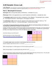 Mendelian Genetics Worksheet - Mendelian Genetics ...