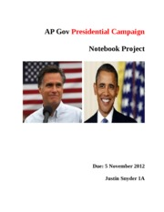 APGOVT Presidential Campaign Notebook Project 1