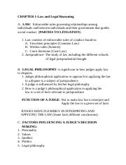 MGMT 246 Chapter 1-Law and Legal Reasoning.doc