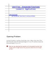 Lesson 6 - Applications of Sinusoidal Functions.pdf