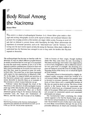"horace miners body ritual among the nacirema essay This in-class active learning exercise makes the familiar strange, using horace  miner's well-known 1956 essay ""body ritual among the nacirema"" to introduce."