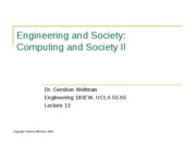 13 - Computing and Society II