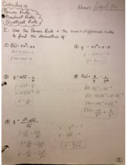 Calculus 12 Differentiation Rules