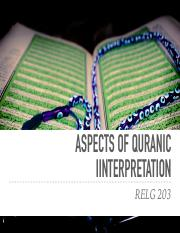 RELG 203 25. Aspects of Interpreting the Quran.pdf