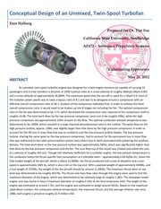 Conceptual Design of an Unmixed, Twin-Spool Turbofan Sample Lab Report 1
