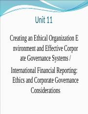 Unit 11 - Ethical Environment & Corporate Goverance.pptx