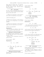 Temperature and kinetic theory-solutions
