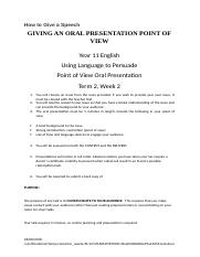 How to Give a Point of View Speech.docx