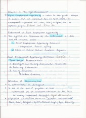 BUS ADM 362 Intro to HR Chapter 3 Lecture Notes on The Legal Environment