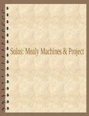 Solns Mealy Machines & Design Project.ppt